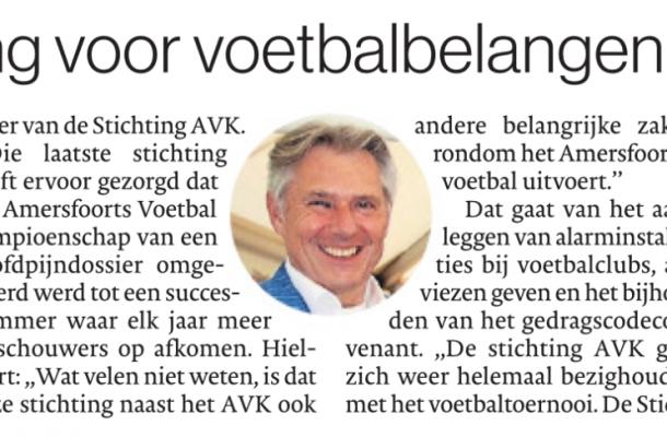 20180614 Nieuwe stichting voor voetbalbelangen in Amersfoort_artikel